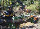 Installing a fish screen on Cowiche Creek