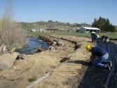Restoration work on Cowiche Creek