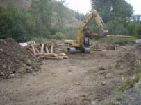 Staging materials on N.F. Ahtanum Creek