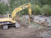 Building erosion control measures on N.F. Ahtanum Creek