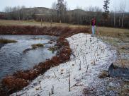 Erosion control measures on Wenas Creek